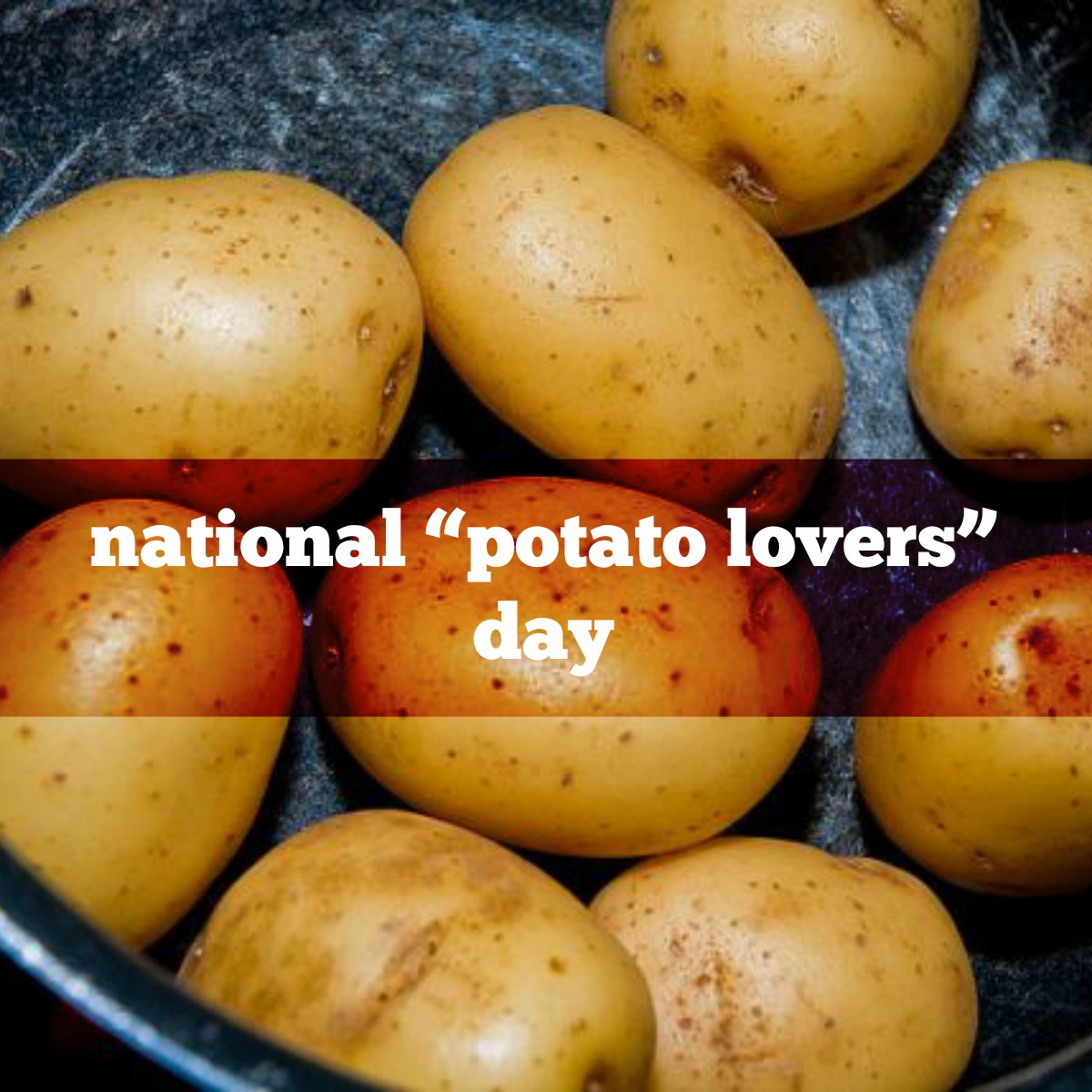 "February 8 is National ""Potato Lovers"" Day 