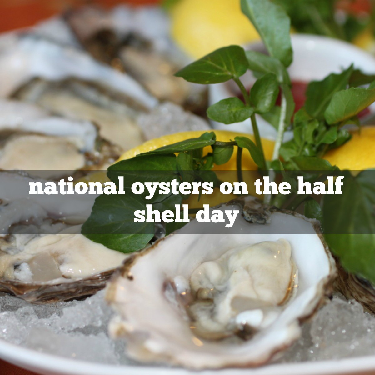 march 31st is national oysters on the half shell day