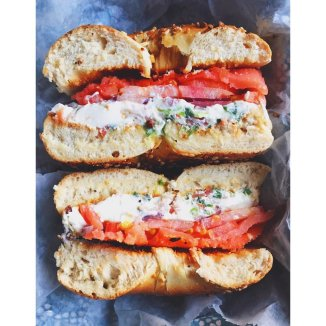 everything-bagel-with-cream-cheese-and-tomato-14
